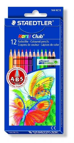Staedtler Noris Club 144 NC12 Colouring Pencils - Assorted Colours (Pack of 12)